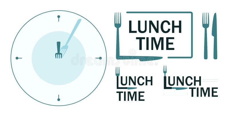 Placez des enseignes avec le texte de temps de déjeuner illustration de vecteur
