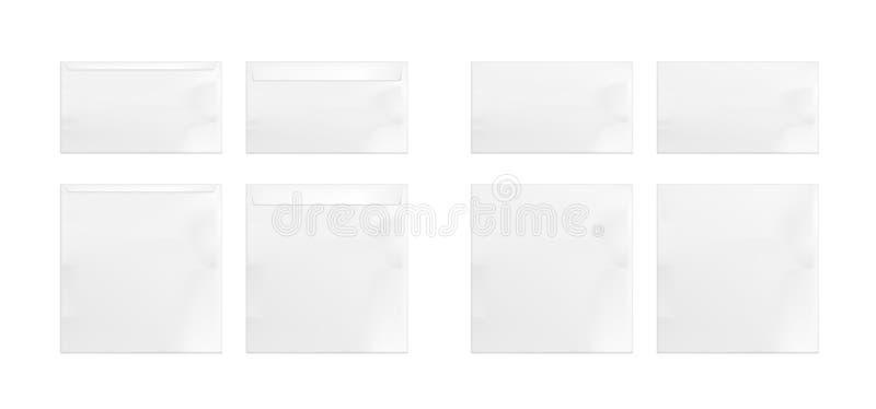Placez des enveloppes de livre blanc illustration stock