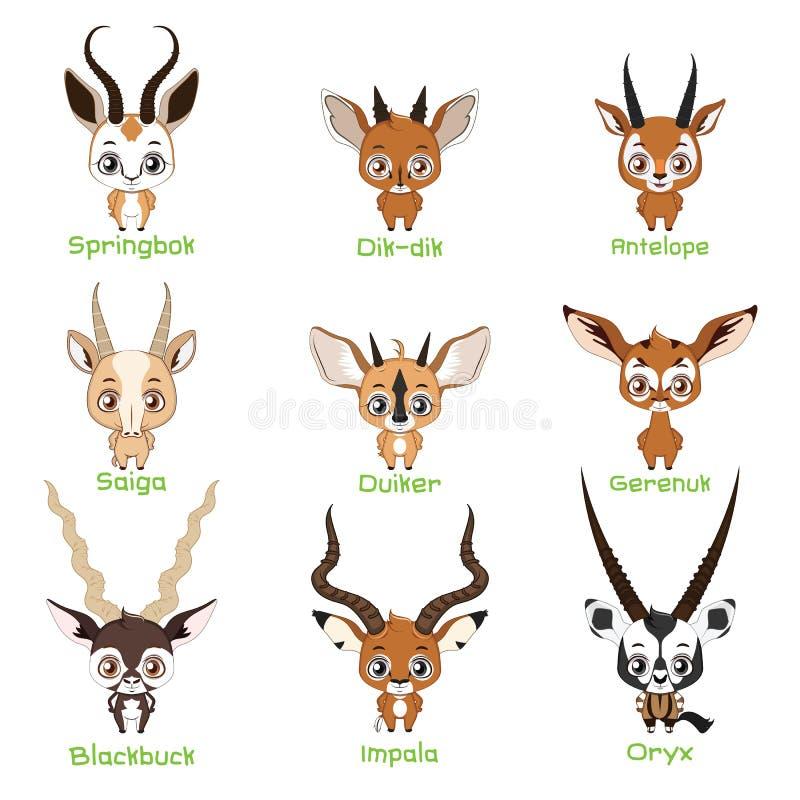 Placez des espèces d'antilope illustration stock