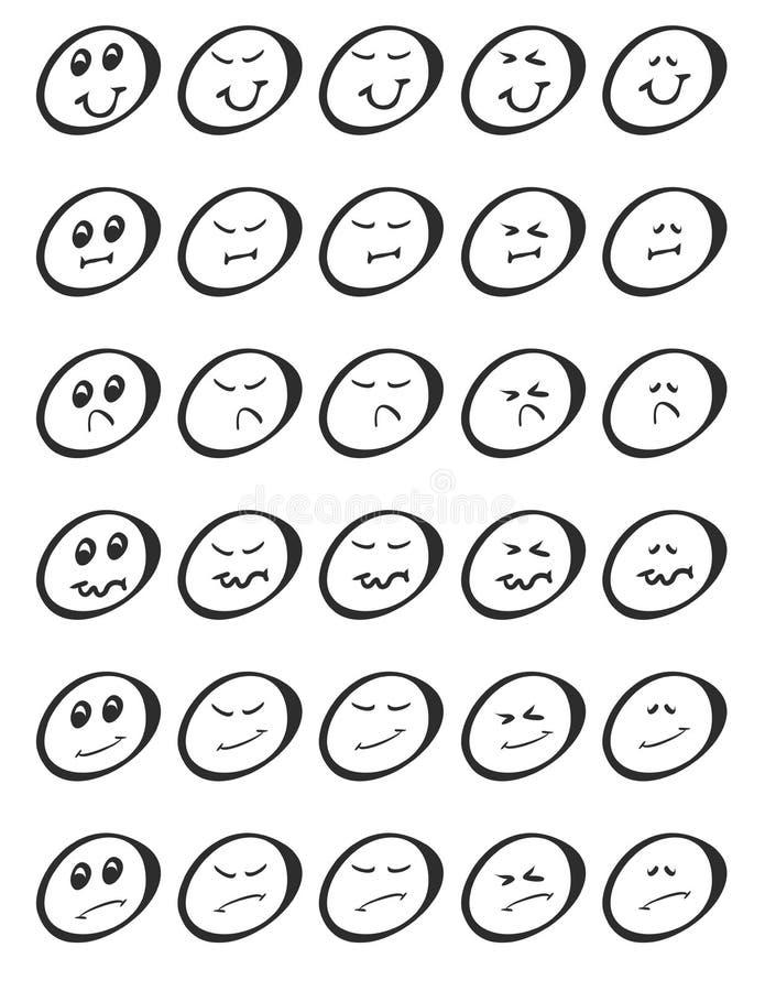 Placez des expressions d'abrégé sur griffonnage photos libres de droits