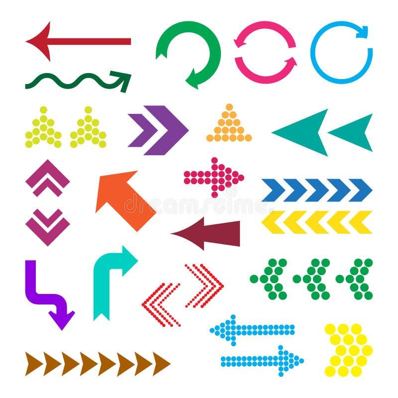 Placez des flèches colorées, illustration de vecteur illustration de vecteur