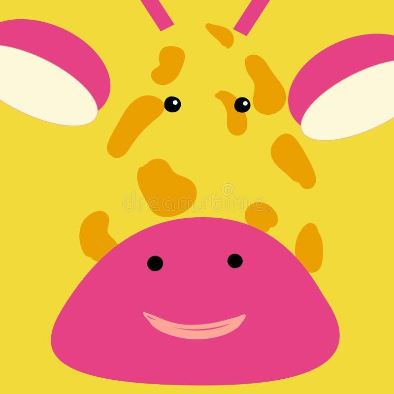 Placez des icônes animales plates de visage dans de rétros couleurs lumineuses pour des autocollants, des cartes, des labels et d illustration de vecteur
