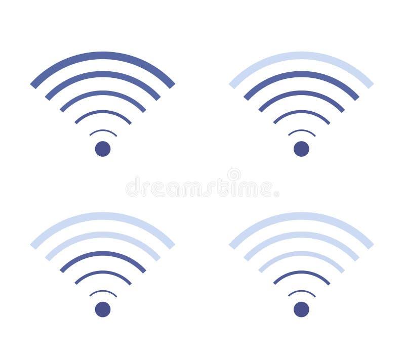 Placez des icônes de Wi-Fi, niveau de connexion internet photos stock