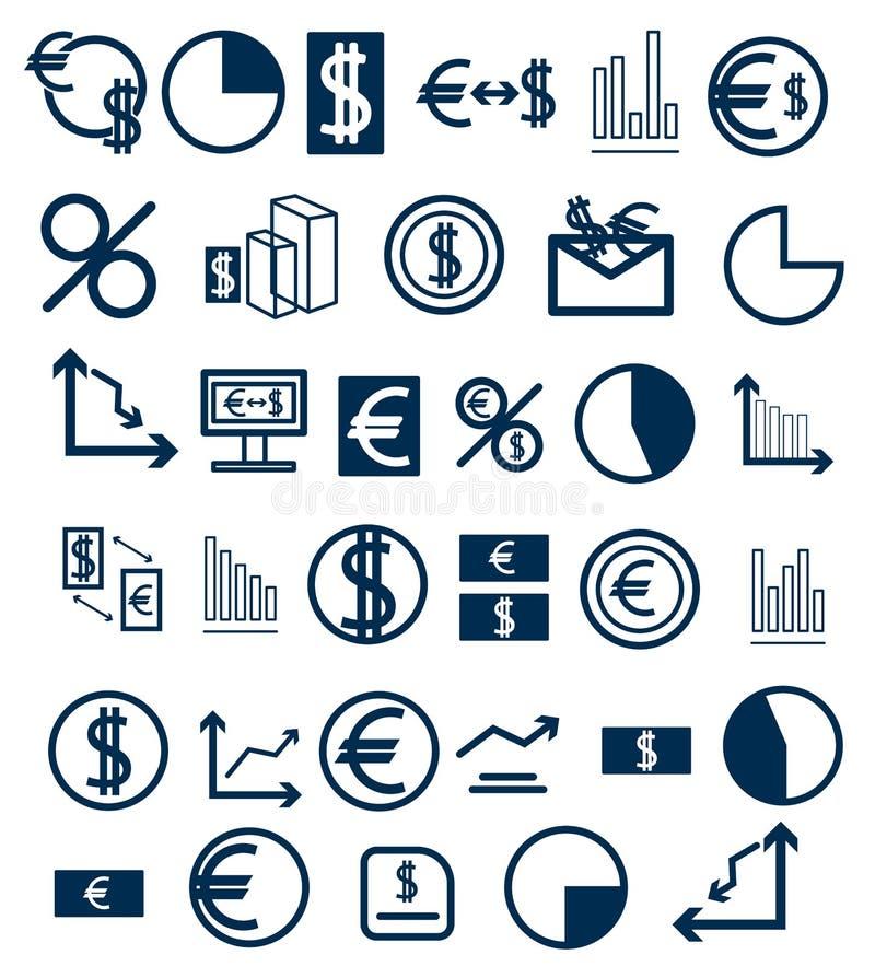 Placez des icônes sur un thème financier illustration de vecteur