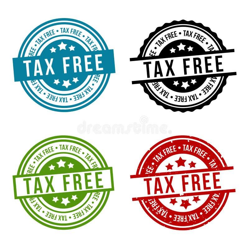 Placez des insignes exempts d'impôt - vecteur d'ENV 10 illustration stock