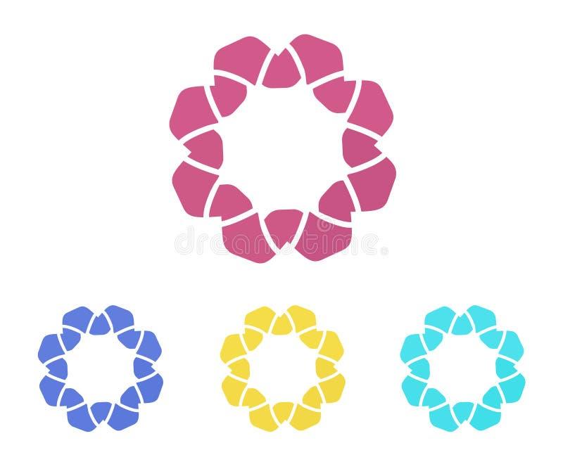 Placez des logos de fleur, signes floraux abstraits illustration libre de droits