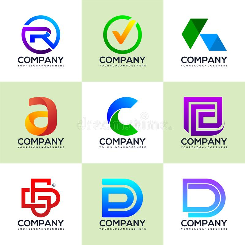 Placez des logos pour des logos industriels et financiers d'affaires illustration libre de droits