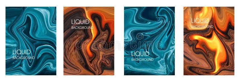 Placez des milieux dans le style liquide illustration de vecteur