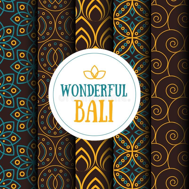 Placez des modèles sans couture dans le style indonésien de batik photos stock