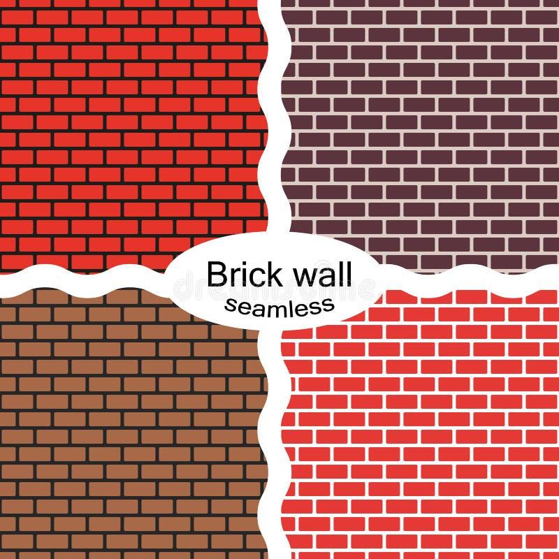 Placez des modèles sans couture du rouge, brun, murs de briques Reproduction continue du modèle de texture Illustration de vecteu illustration stock