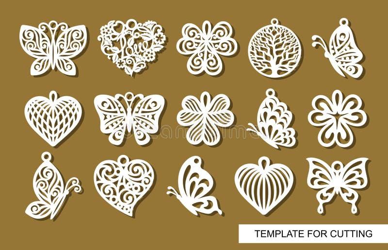 Placez des pendants décoratifs illustration libre de droits