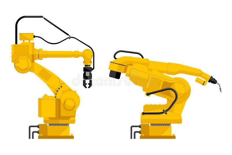 Placez des robots d'isolement sur le blanc illustration de vecteur