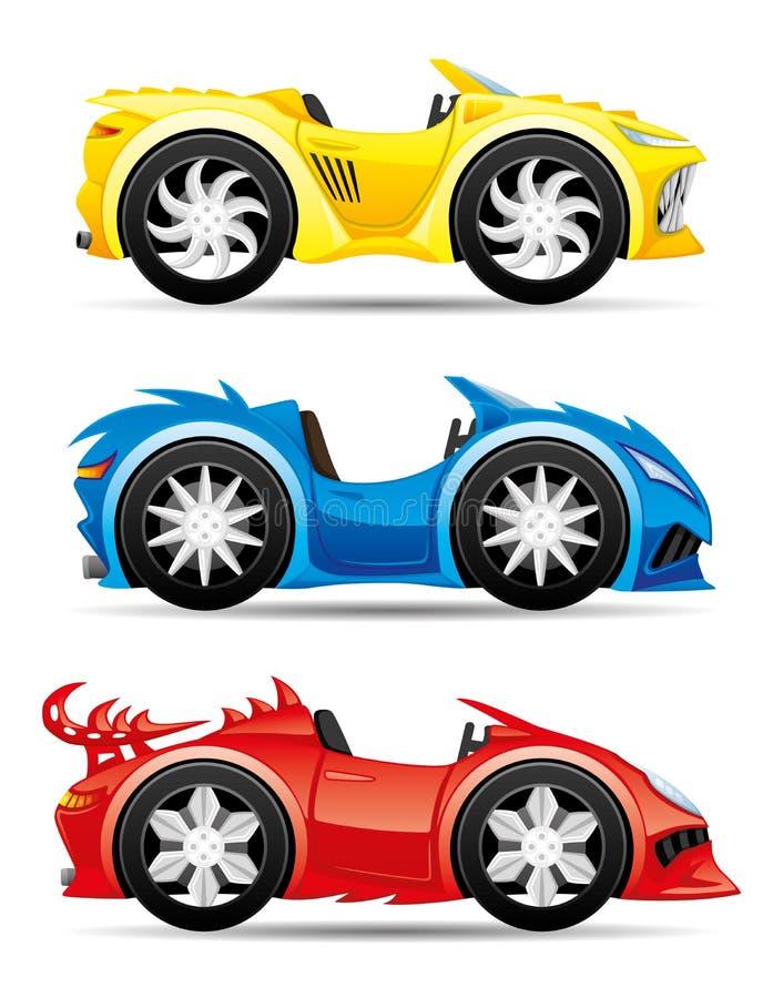 Placez des voitures de jouet de monstre illustration libre de droits
