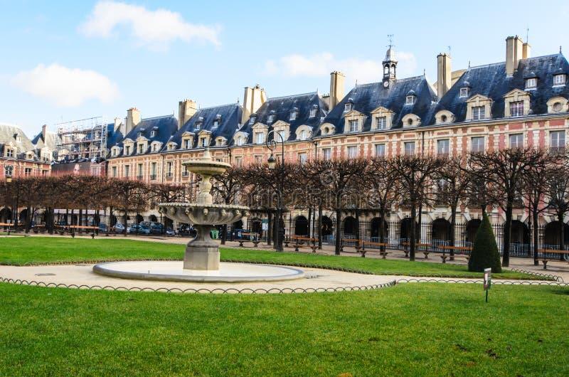 Placez DES VOSGES Paris photo stock