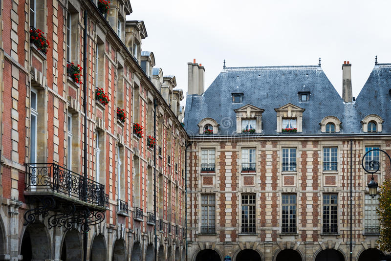 Placez DES VOSGES, Paris photo stock