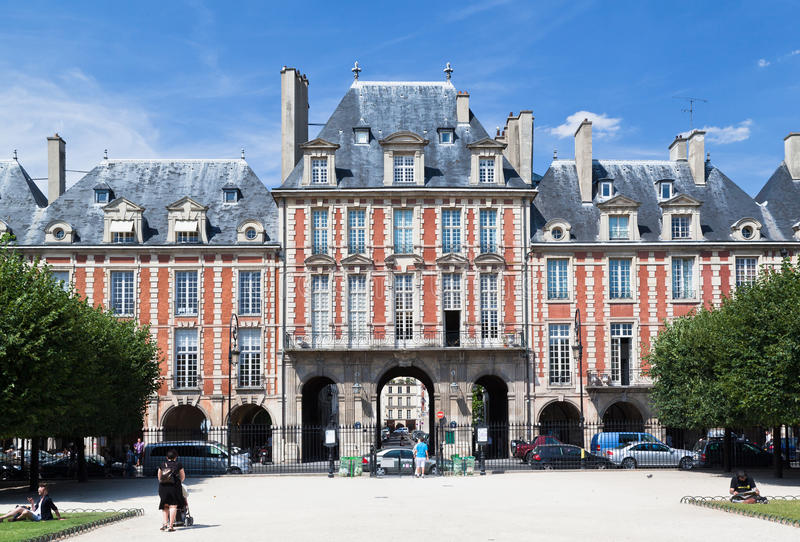 Placez DES VOSGES Paris France photographie stock