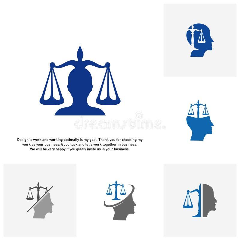 Placez du cabinet d'avocats avec le calibre de conception de logo de personnes Concepts de logo de cabinet d'avocats vecteur de l illustration libre de droits