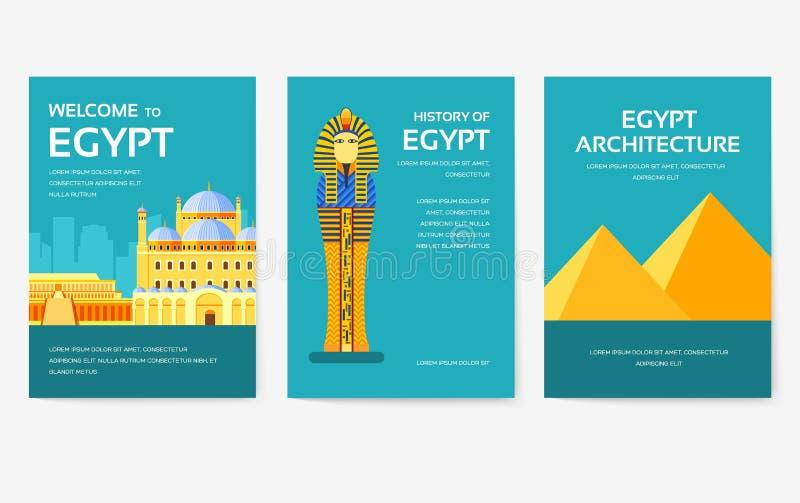 Placez du concept de visite de voyage d'ornement de pays de l'Egypte Vacances traditionnelles, magazine, livre, affiche, résumé,  illustration stock