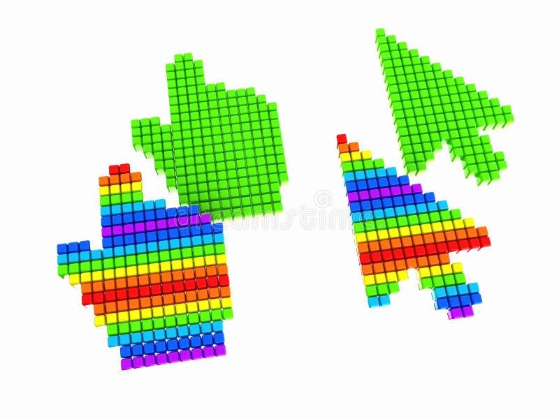 Placez du curseur de souris d'ordinateur de sélection de lien illustration stock
