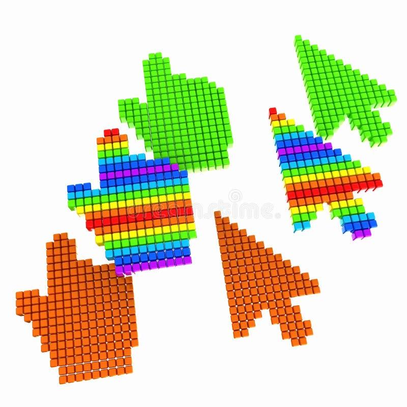 Placez du curseur de souris d'ordinateur de sélection de lien illustration de vecteur