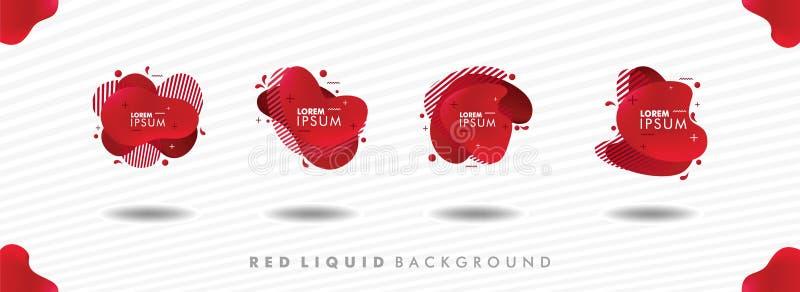 Placez du fond liquide rouge illustration de vecteur
