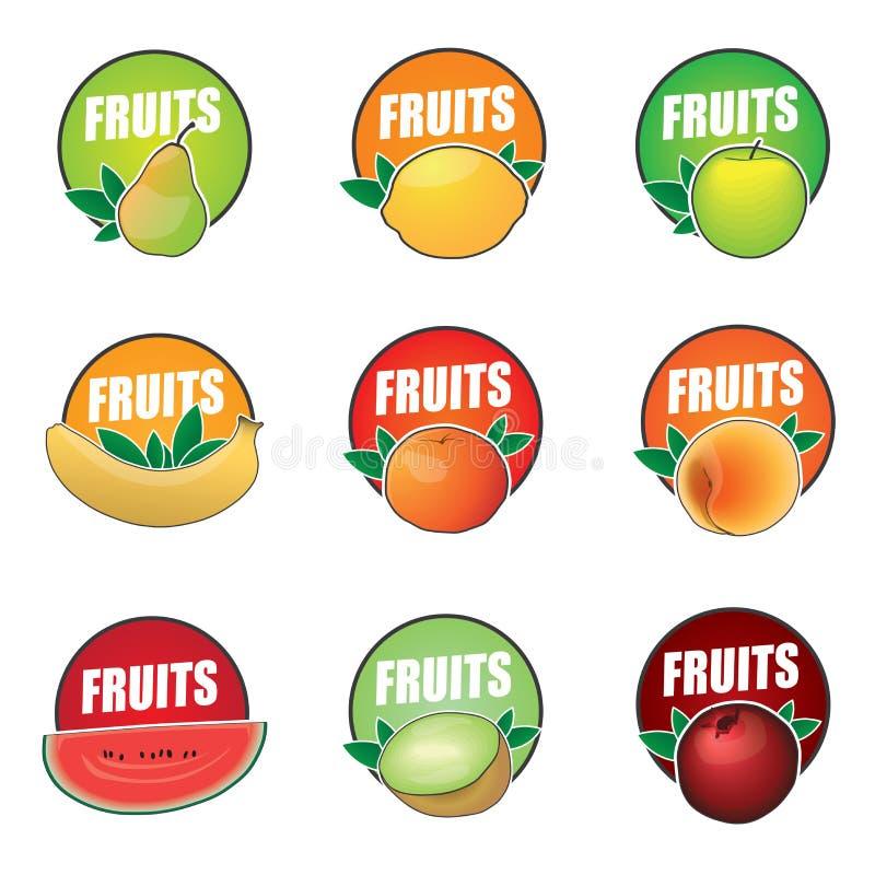 Placez du fruit de logos de vecteur, produit naturel illustration de vecteur