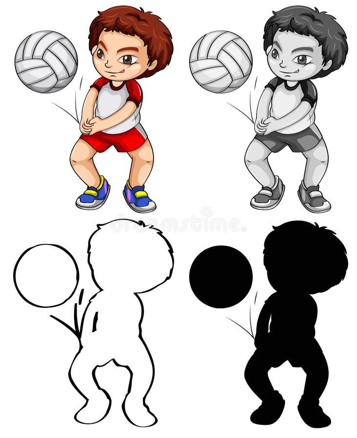 Placez du joueur de volleyball illustration de vecteur