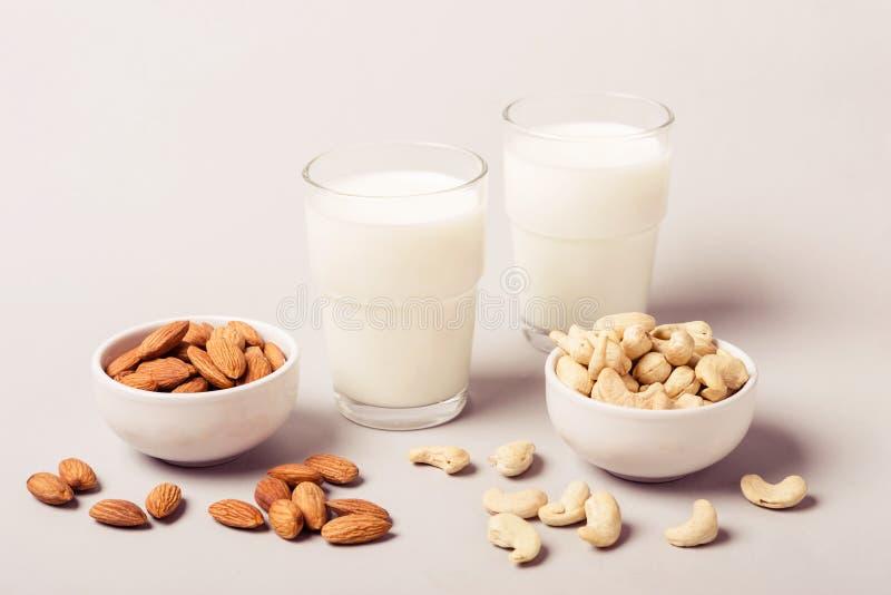 Placez du lait et des ingrédients de journal intime de vegan non Concept de soins de santé et de régime image libre de droits
