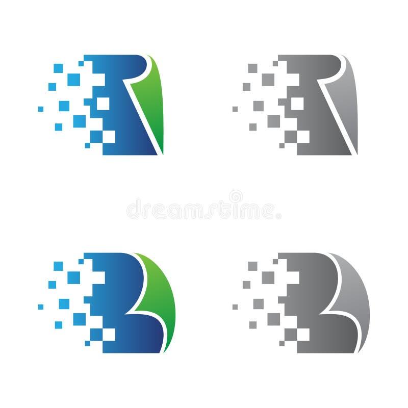 Placez du papier de pixel de conception pour votre meilleur symbole de société commerciale illustration de vecteur