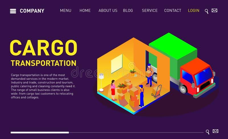 Placez du site Web de conception, de la page de débarquement ou du calibre de présentation illustration stock