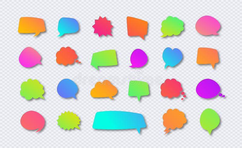 Placez du style moderne de couleur de gradient de bulle de la parole de vecteur illustration libre de droits