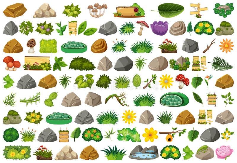 Placez du thème d'isolement d'objets - nature illustration libre de droits
