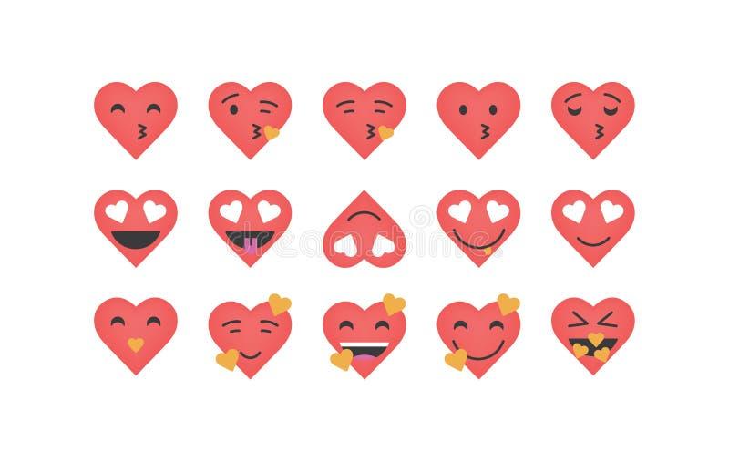 Placez du vecteur d'émoticône de coeur de visage illustration libre de droits
