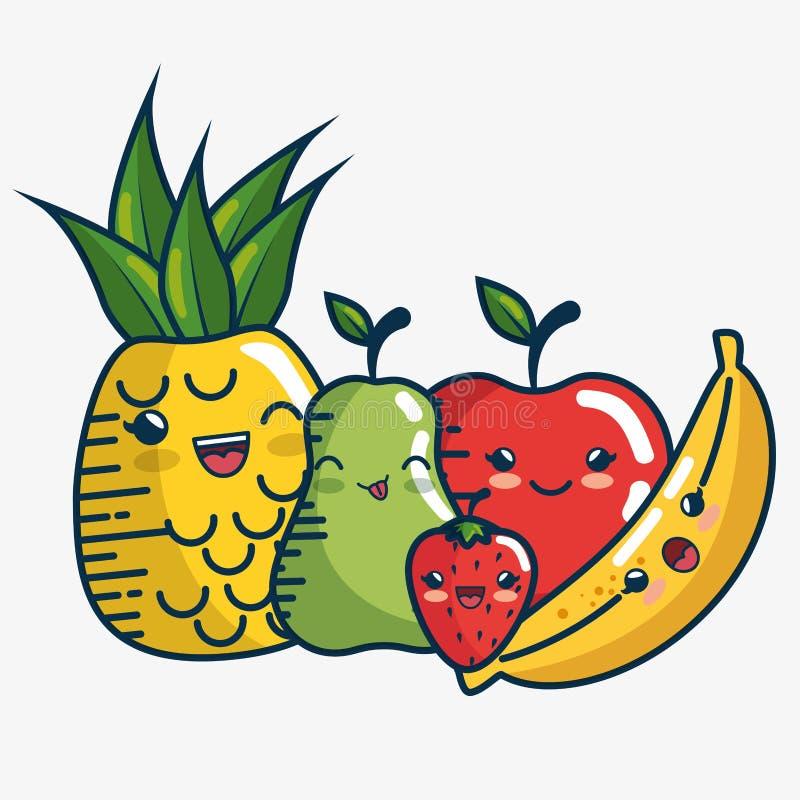 Download Placez Fait Main De Caractères De Fruits Frais Dessiné Illustration de Vecteur - Illustration du organique, comique: 87702554