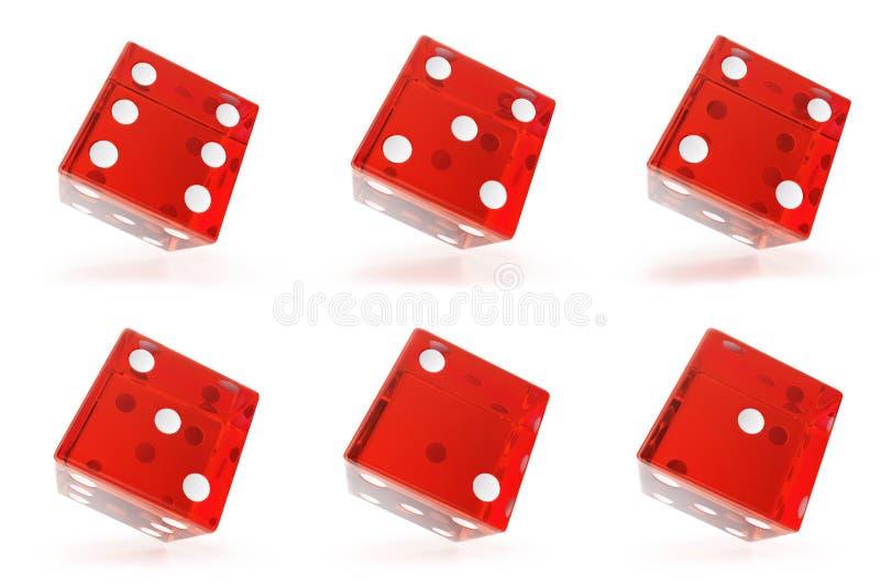 Placez, groupe de matrices transparentes rouges d'isolement sur le fond blanc avec des ombres rendu 3d illustration de vecteur