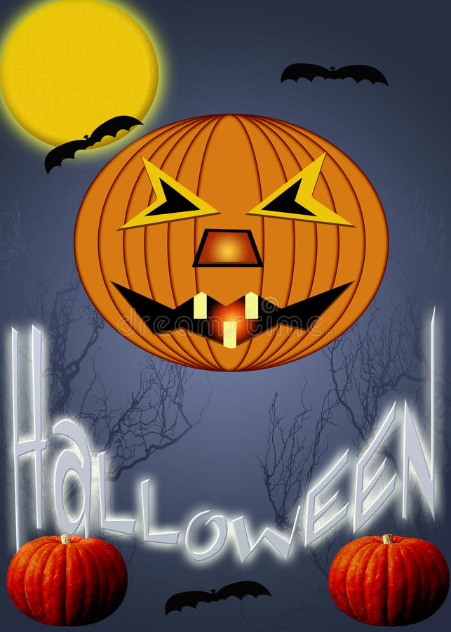 Placez Halloween illustration stock