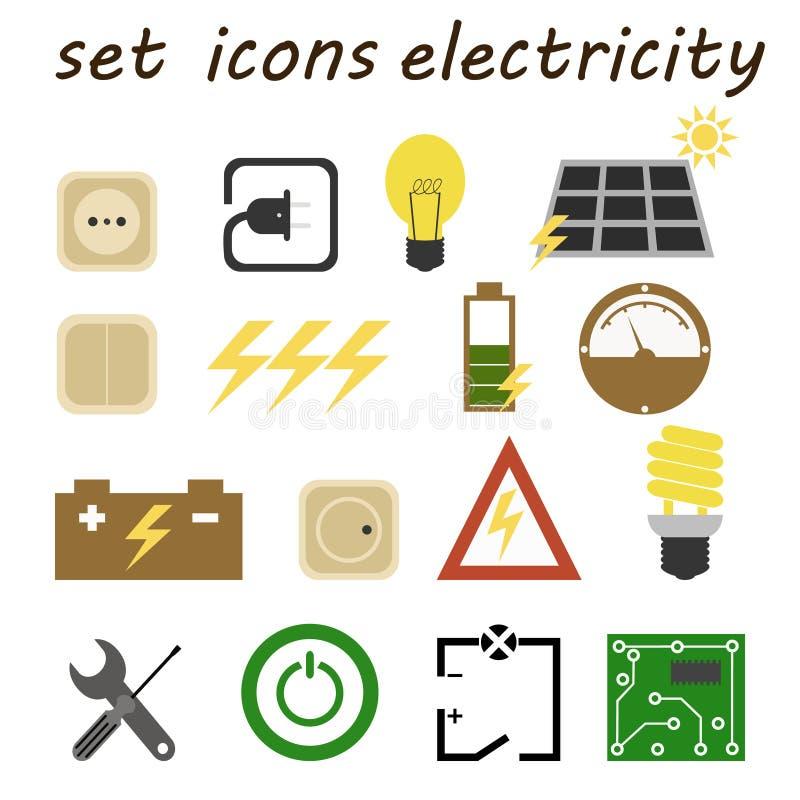 Placez l'électricien d'icônes illustration libre de droits