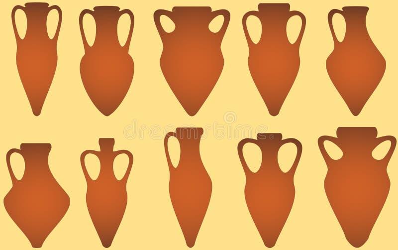 Placez l'amphora antique d'isolement illustration libre de droits
