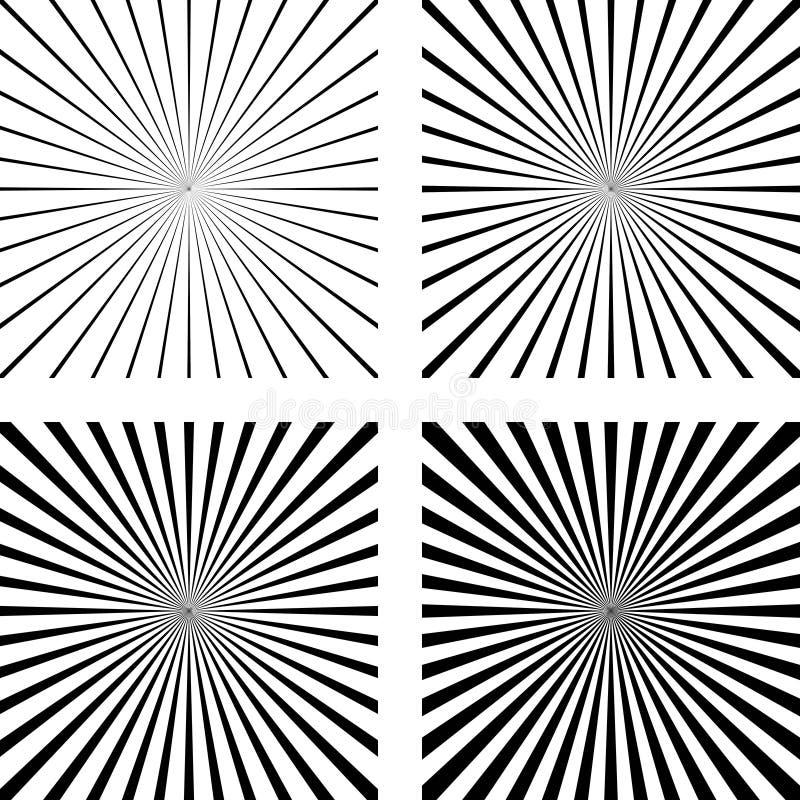 Placez l'art de bruit comique de fond de rayons légers de calibre illustration libre de droits