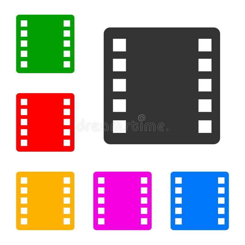 Placez l'icône de film - vecteur illustration stock