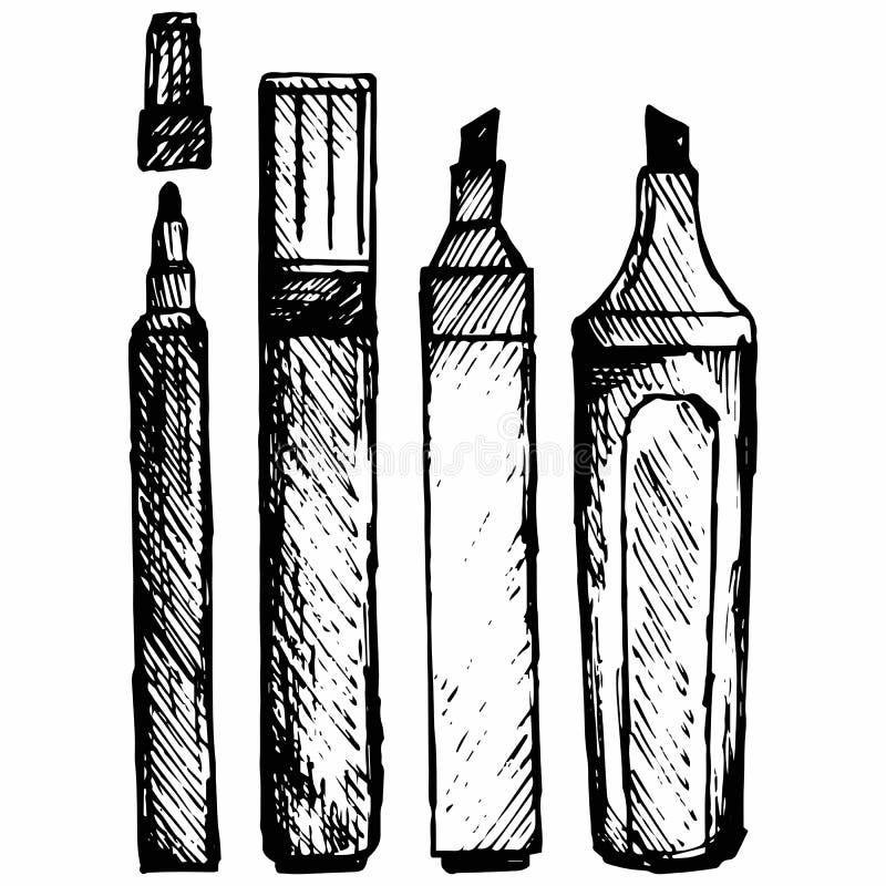 Placez l'icône de marqueur illustration stock