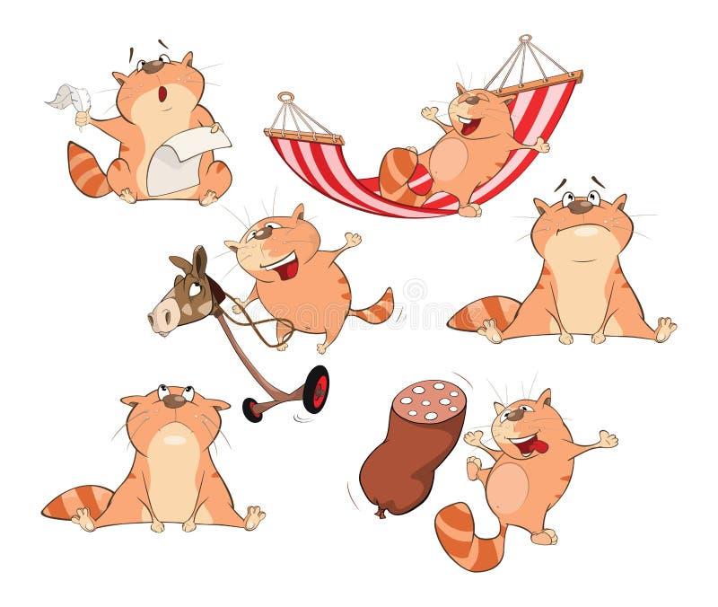 Placez l'illustration de bande dessinée Chats mignons pour vous conception illustration de vecteur