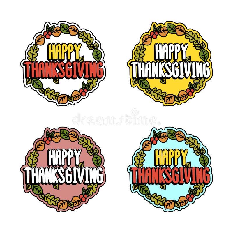 Placez l'inscription pour le thanksgiving sur un fond blanc illustration libre de droits