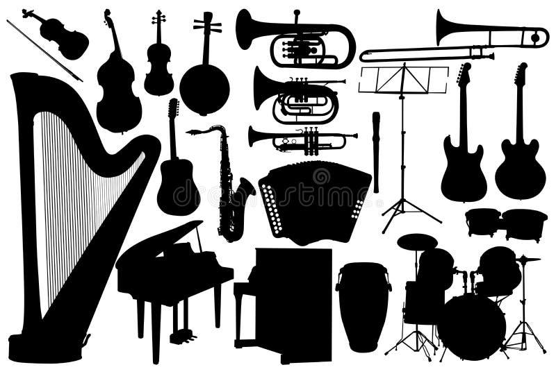 Placez l'instrument de musique illustration libre de droits