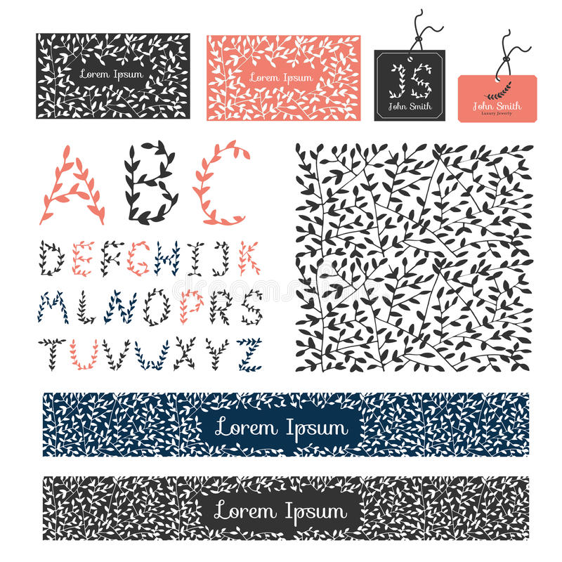 Placez l'ornam élégant calligraphique de conception de flourishes de luxe d'éléments illustration de vecteur