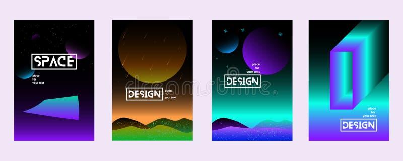 Placez l'univers d'illustrations de gradient illustration de vecteur