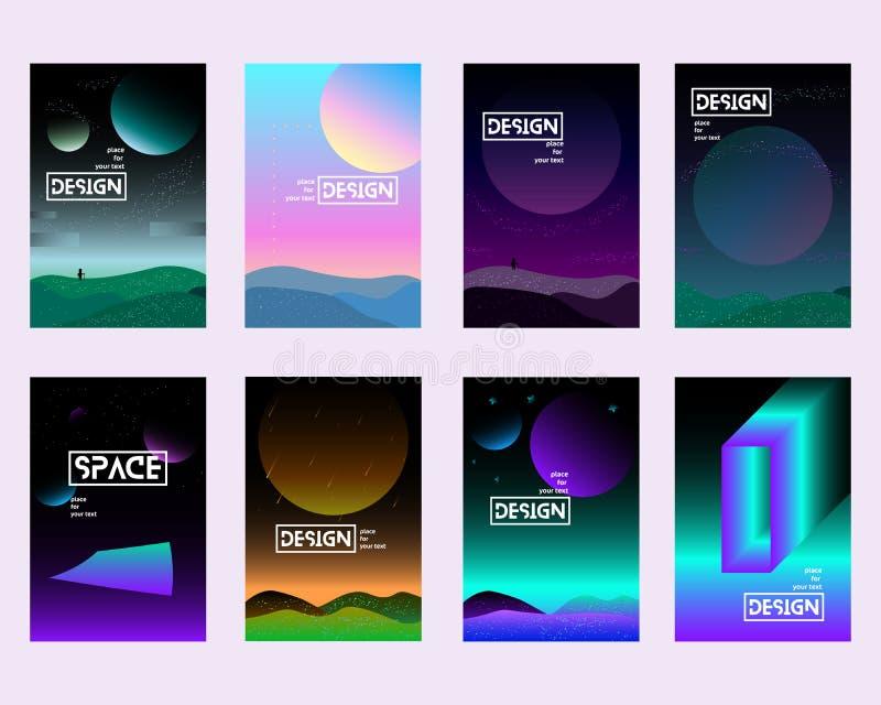 Placez l'univers d'illustrations de gradient illustration stock