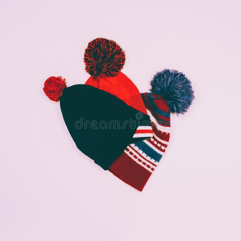 Placez la bande de chapeaux de vintage de sports images stock