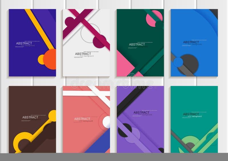 Placez la brochure courante de vecteur illustration stock