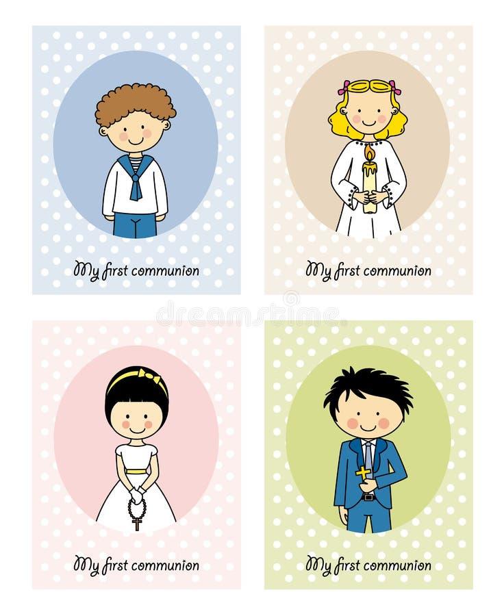 Placez la carte de communion illustration stock